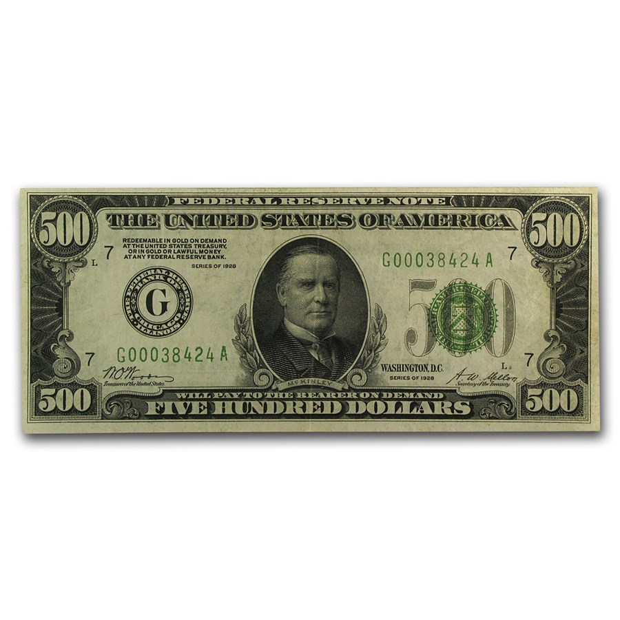1928 (G-Chicago) $500 FRN XF+