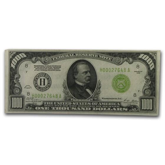 1928 (H-St. Louis) $1,000 FRN XF+ (LGS)