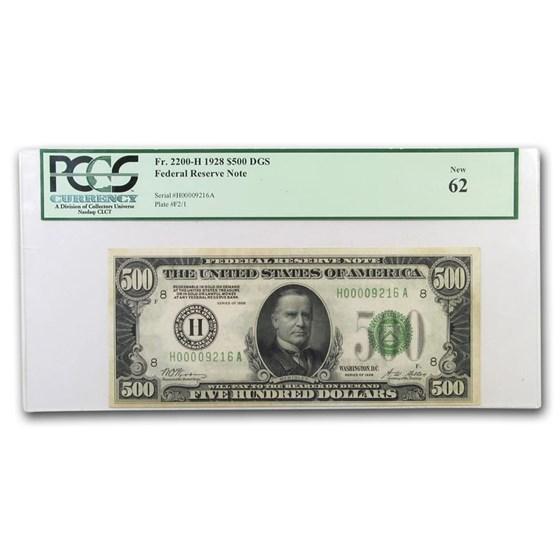 1928 (H-St. Louis) $500 FRN Choice CU-62 PCGS
