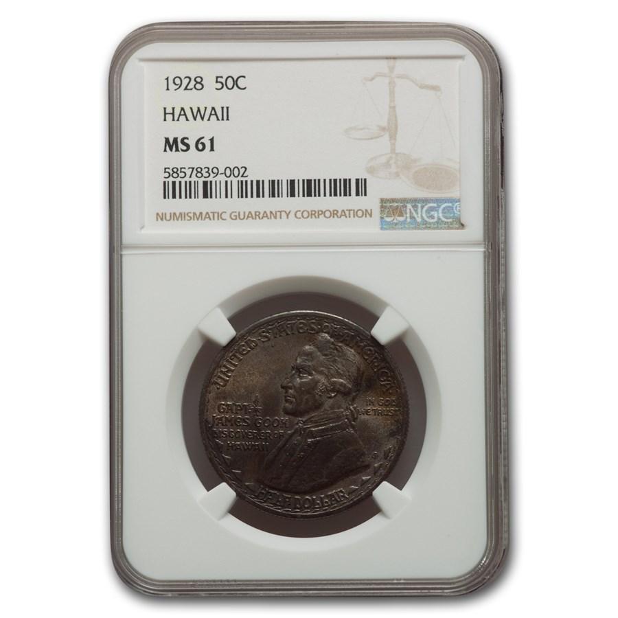 1928 Hawaii Sesquicentennial Half Dollar MS-61 NGC