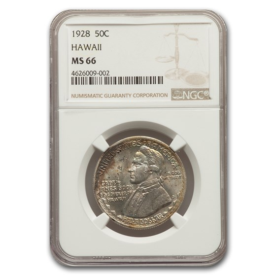 1928 Hawaii Sesquicentennial Half Dollar MS-66 NGC