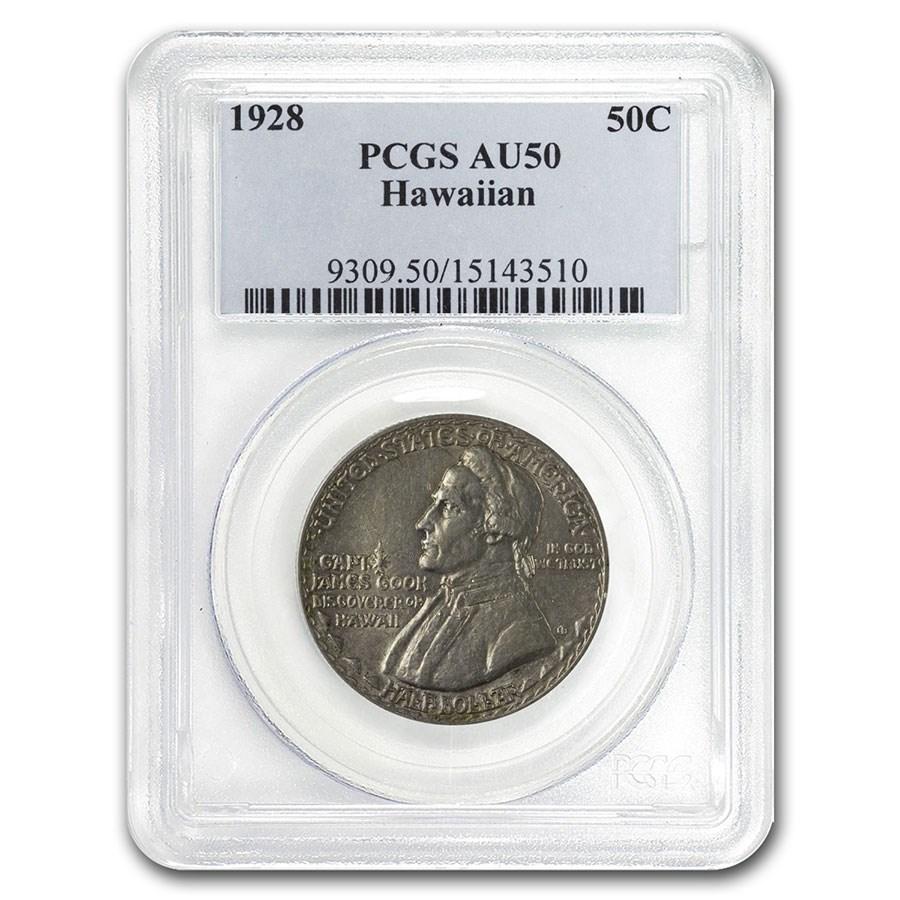 1928 Hawaiian Sesquicentennial Half Dollar AU-50 PCGS