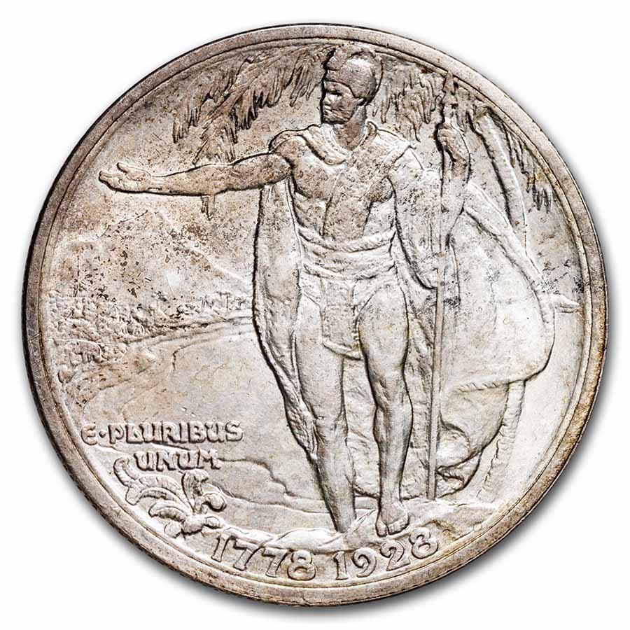 1928 Hawaiian Sesquicentennial Half Dollar BU Details (Cleaned)
