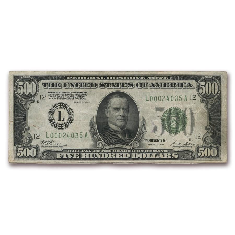 1928 (L-San Francisco) $500 FRN VF