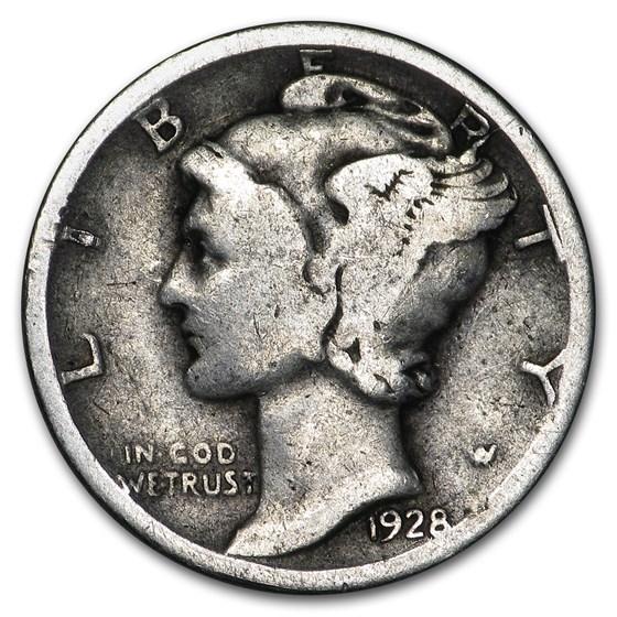1928 Mercury Dime Good/VF