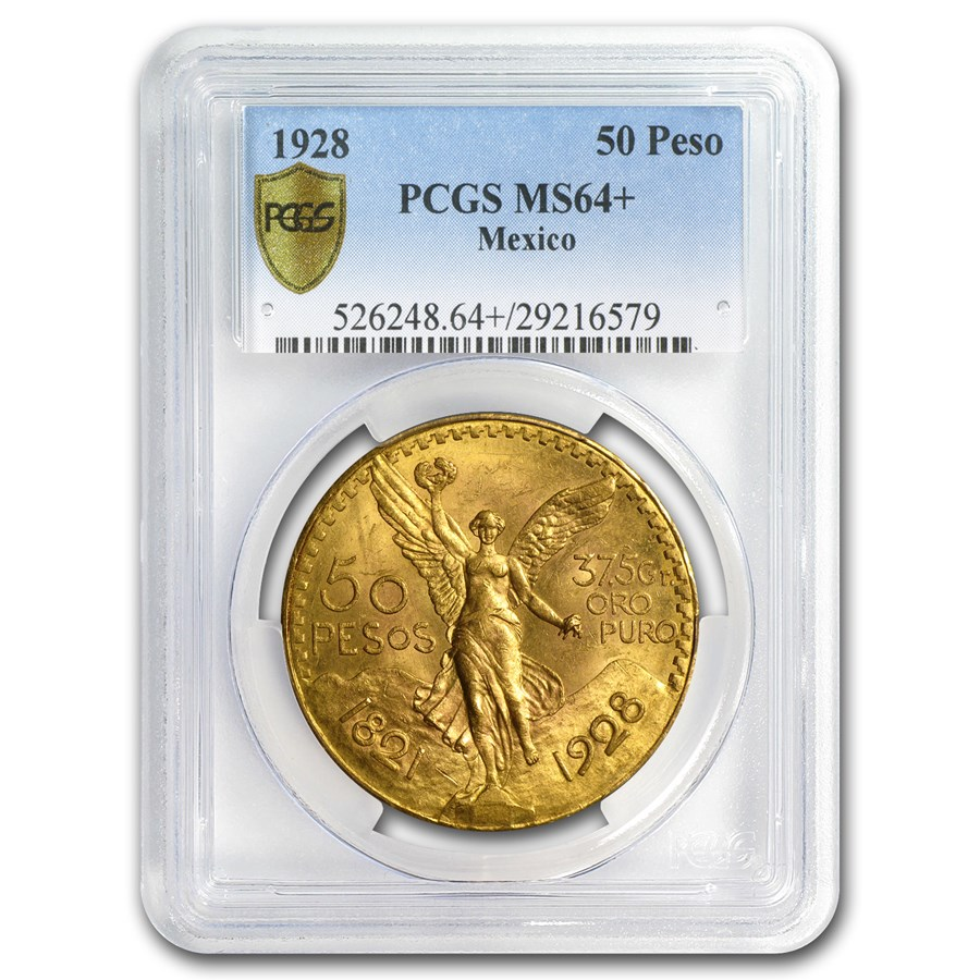 1928 Mexico Gold 50 Pesos MS-64+ PCGS