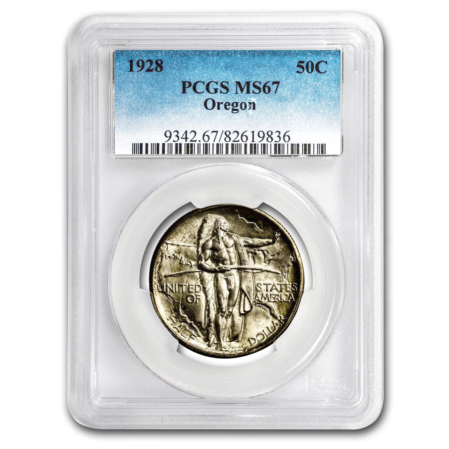 1928 Oregon Trail Commemorative Half Dollar MS-67 PCGS