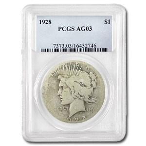 1928 Peace Dollar AG-3 PCGS (Low Ball Registry)