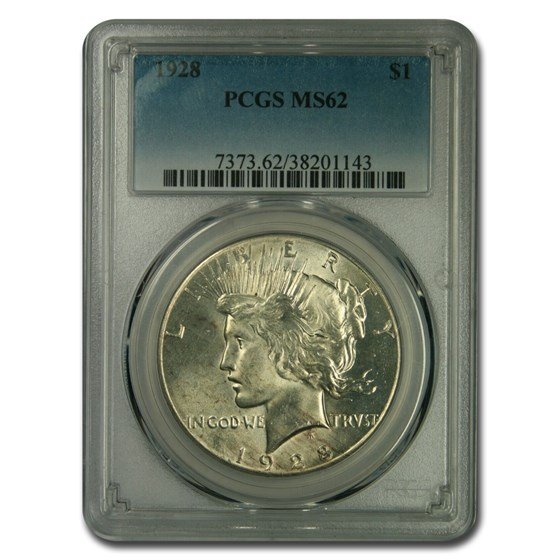 1928 Peace Dollar MS-62 PCGS