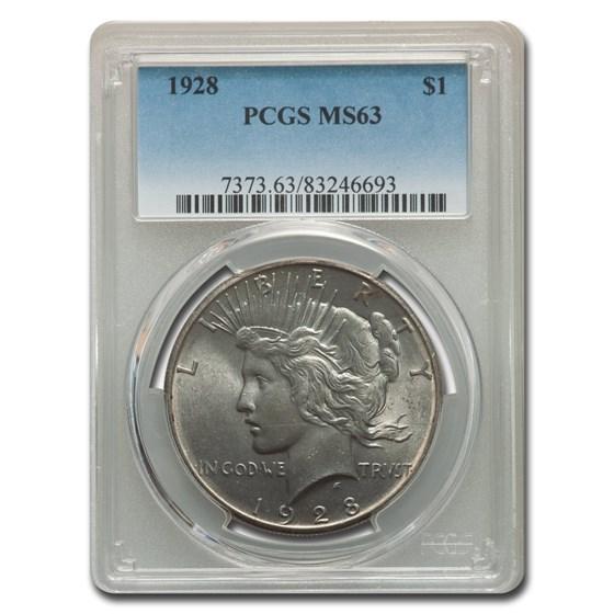 1928 Peace Dollar MS-63 PCGS