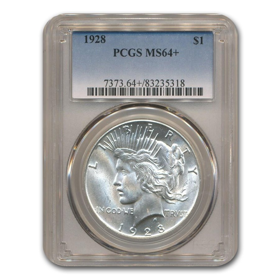 1928 Peace Dollar MS-64+ PCGS