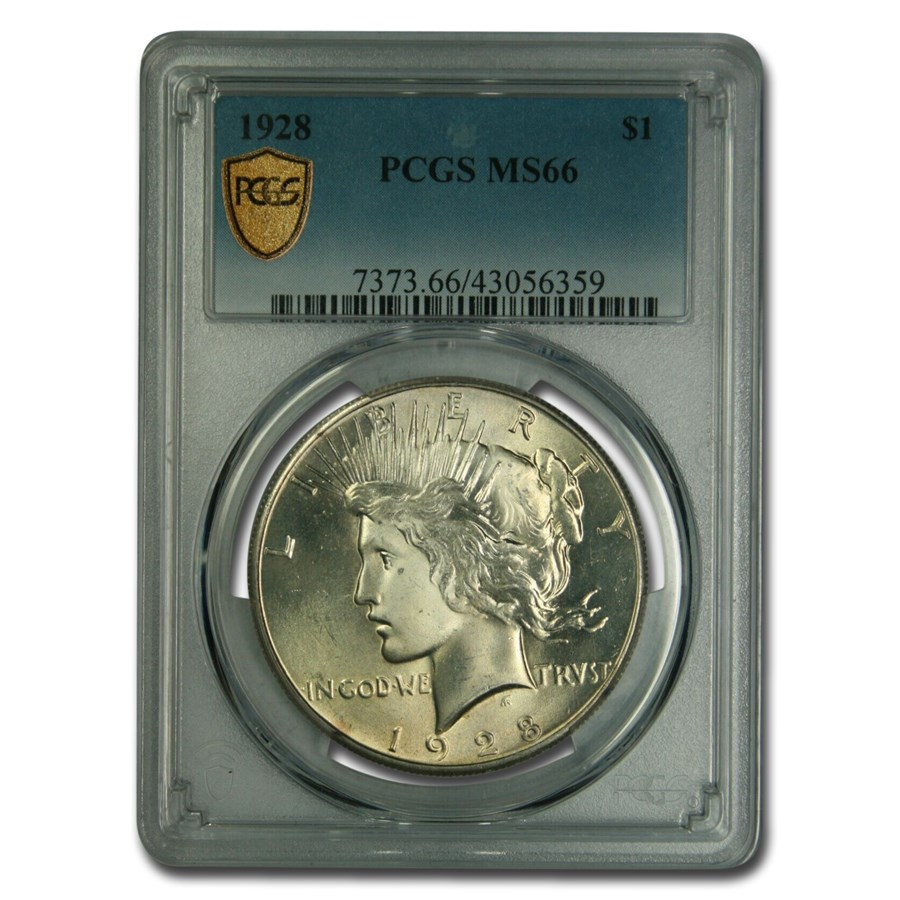 1928 Peace Dollar MS-66 PCGS