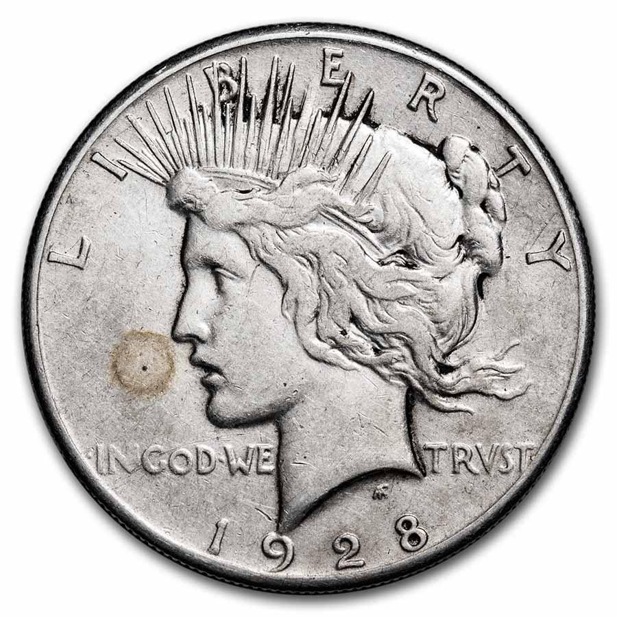 1928 Peace Dollar VG/VF