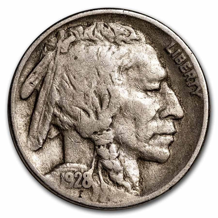1928-S Buffalo Nickel VF