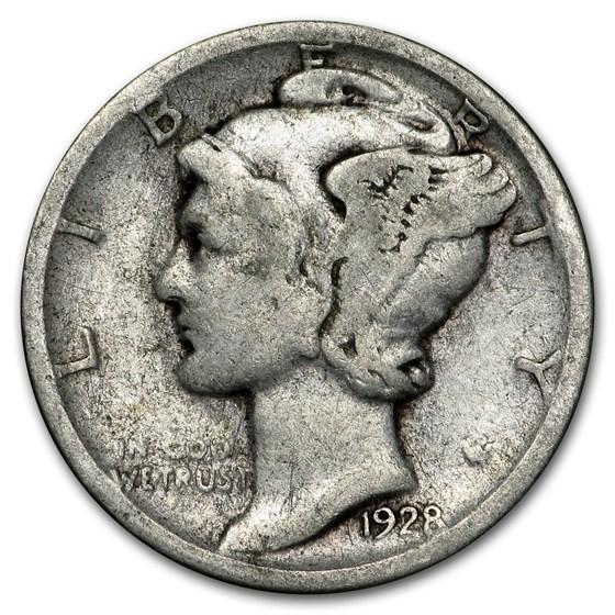 1928-S Mercury Dime Good/Fine