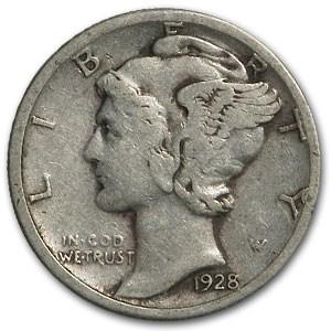 1928-S Mercury Dime VF