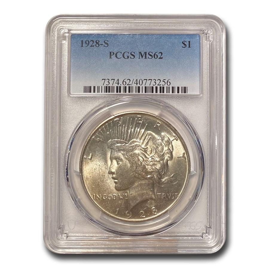 1928-S Peace Dollar MS-62 PCGS