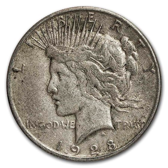 1928-S Peace Dollar VG/VF