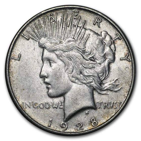 1928-S Peace Dollar XF Details (Cleaned)
