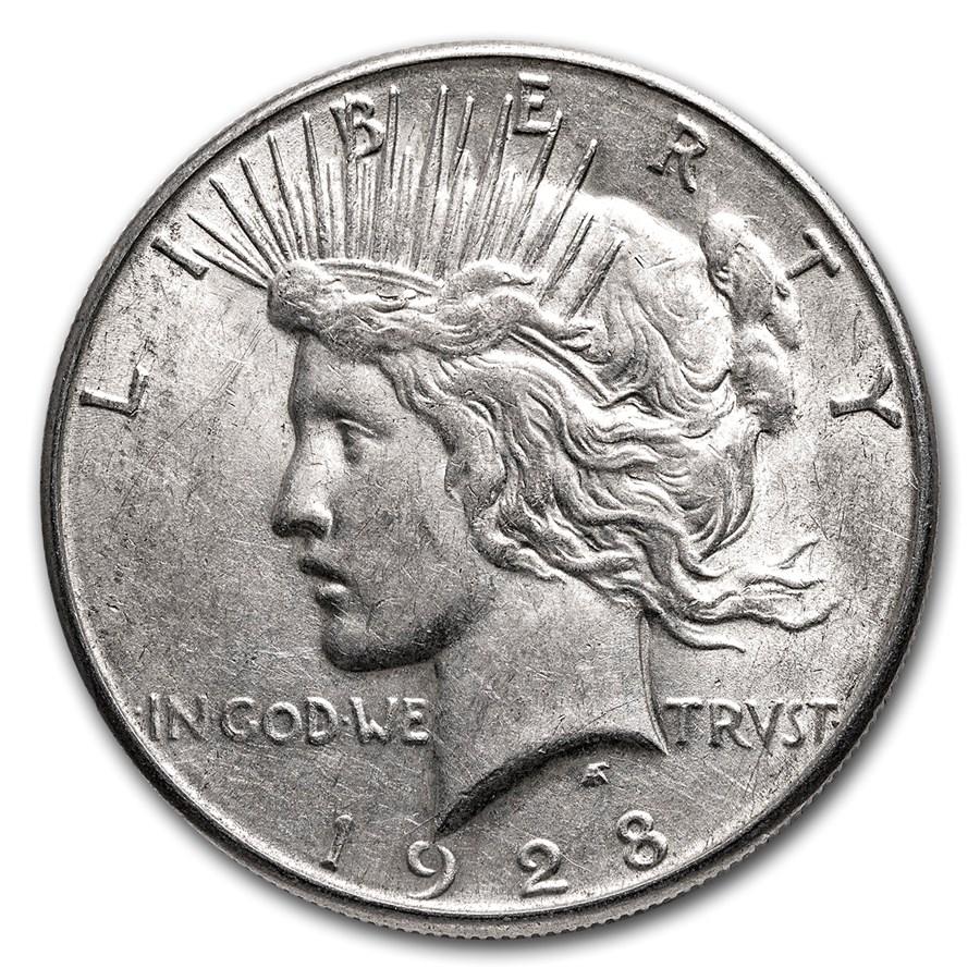 1928-S Peace Dollar XF