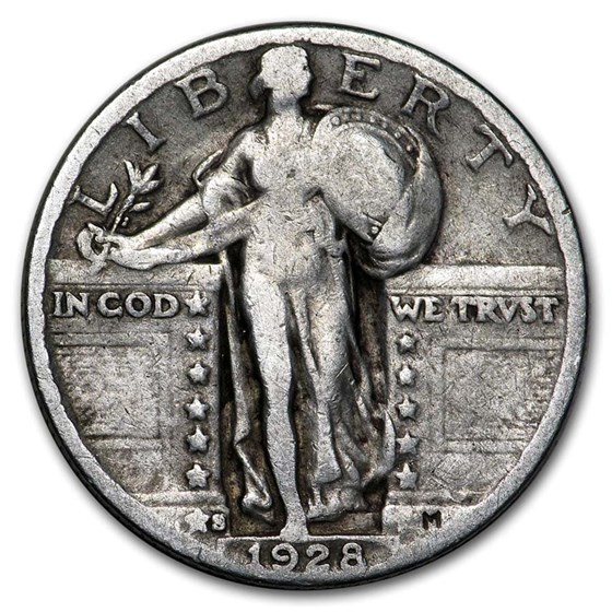 1928-S Standing Liberty Quarter Fine