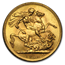 1928-SA South Africa Gold Sovereign George V BU (Large bust)