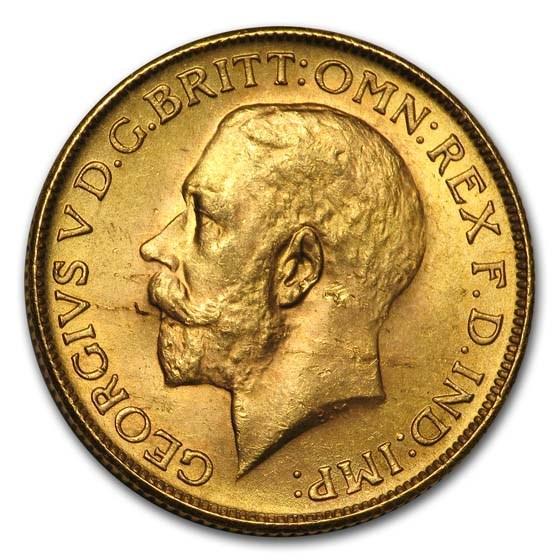 1928-SA South Africa Gold Sovereign George V BU