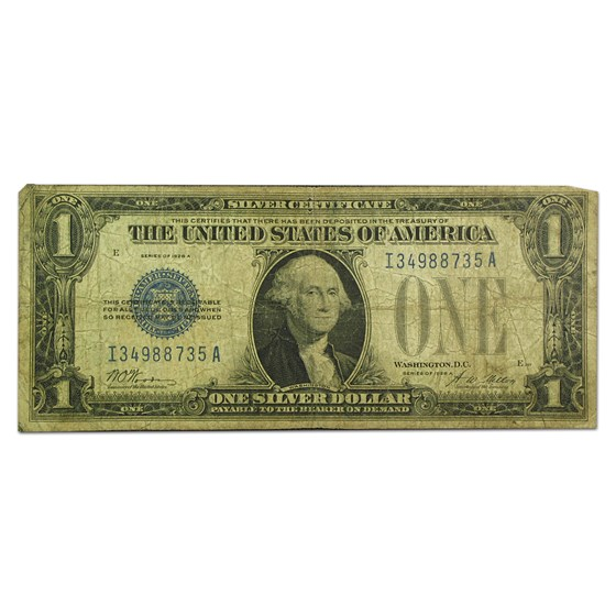 1928 thru 1928-B $1.00 Silver Certificates VG