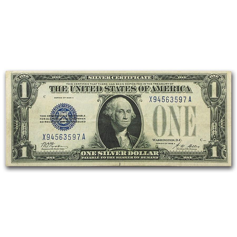 1928 thru 1928-B $1.00 Silver Certificates XF