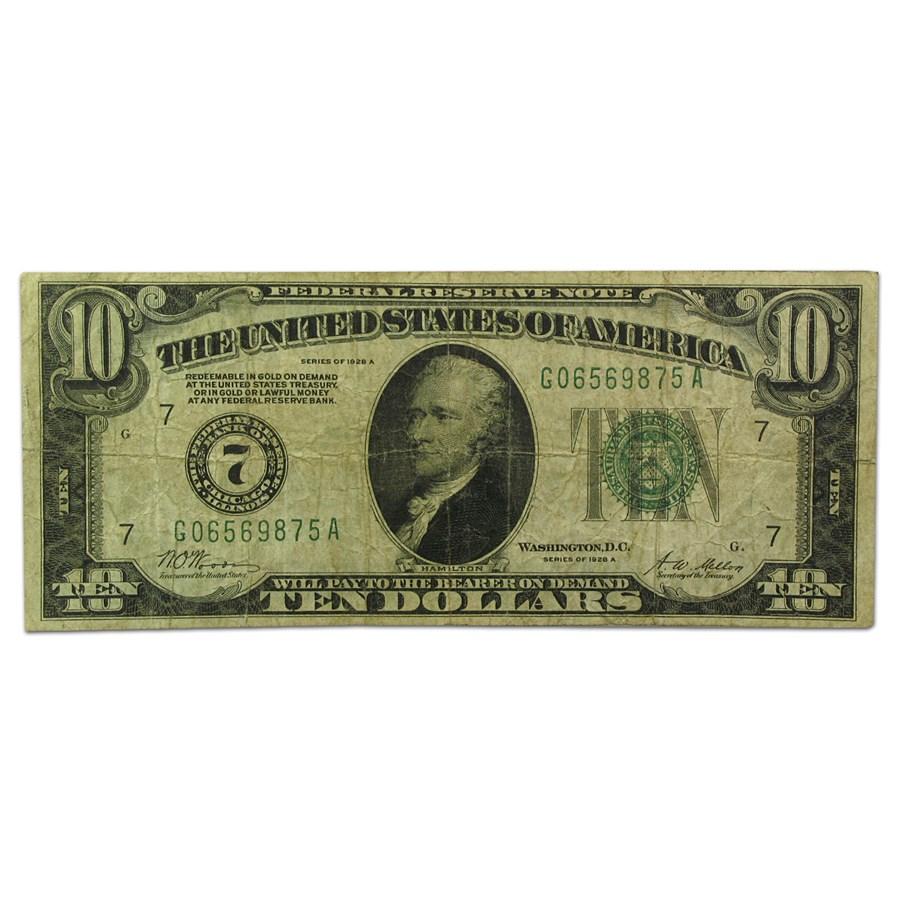 1928's $10 FRN VG/VF
