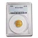 1929 $2.50 Indian Gold Quarter Eagle MS-63 PCGS