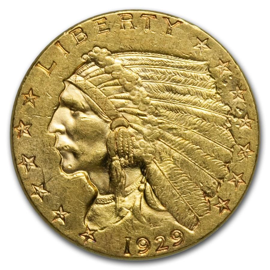 1929 $2.50 Indian Gold Quarter Eagle XF