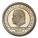 1929-A Germany Weimar Republic Silver 5 Reichsmark PR-64DCAM PCGS
