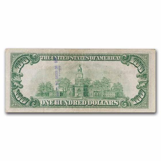 1929 (B-New York) $100 Brown Seal FRBN VF Details