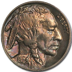 1929 Buffalo Nickel AU