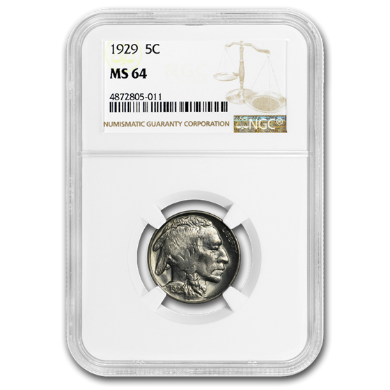1929 Buffalo Nickel MS-64 NGC