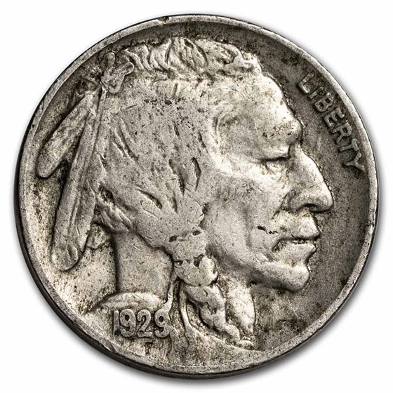 1929 Buffalo Nickel VF