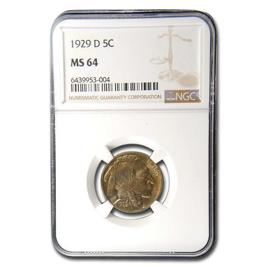 1929-D Buffalo Nickel MS-64 NGC