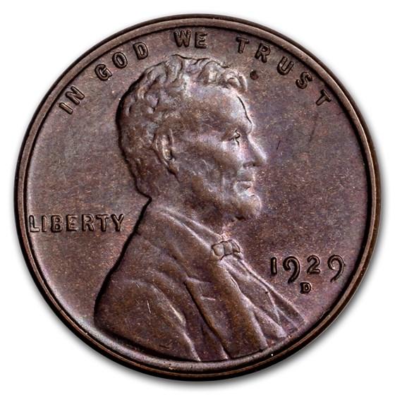 1929-D Lincoln Cent AU