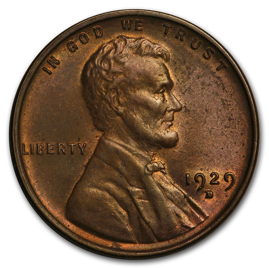 1929-D Lincoln Cent BU (Brown)