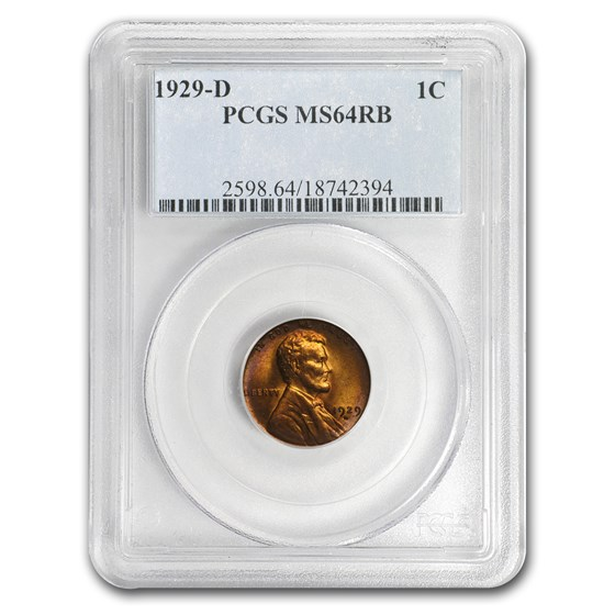 1929-D Lincoln Cent MS-64 (Red/Brown) PCGS
