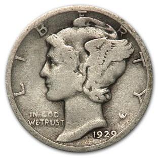 1929-D Mercury Dime Good/Fine