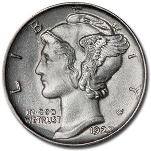 1929-D Mercury Dime MS-62