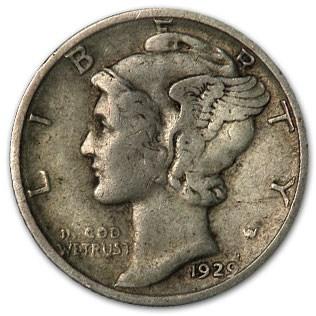 1929-D Mercury Dime VF