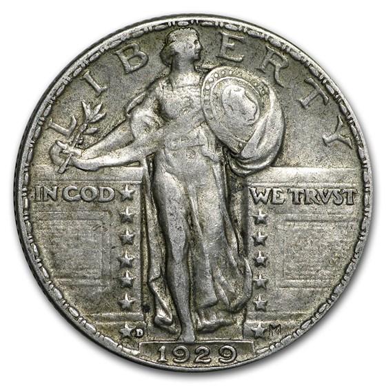 1929-D Standing Liberty Quarter XF