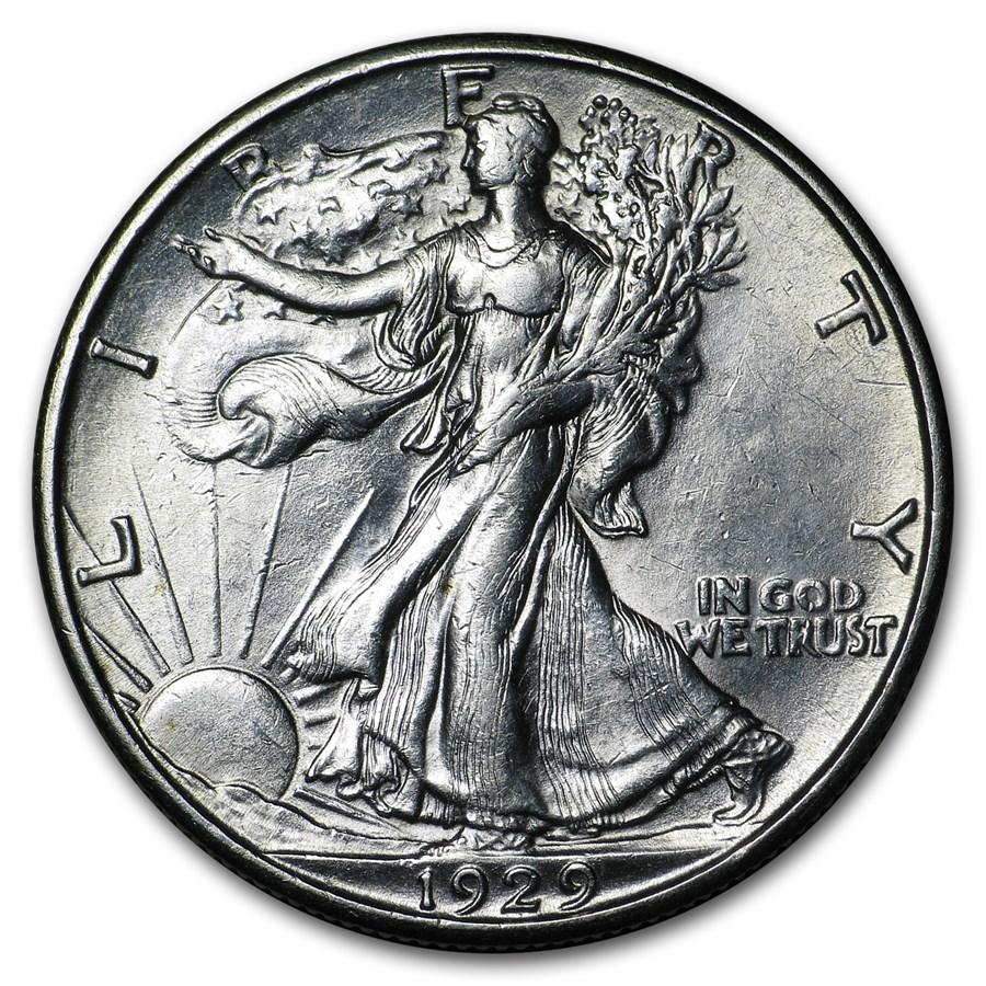1929-D Walking Liberty Half Dollar AU