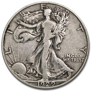 1929-D Walking Liberty Half Dollar Fine