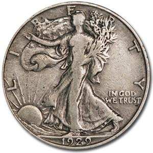 1929-D Walking Liberty Half Dollar VF