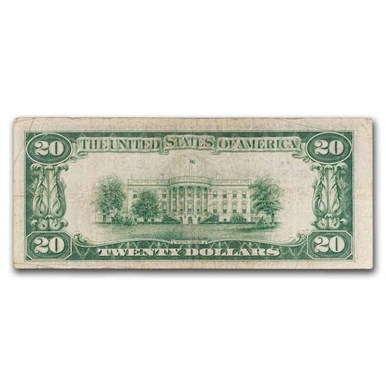 1929 (E-Richmond) $20 Brown Seal FRBN Fine