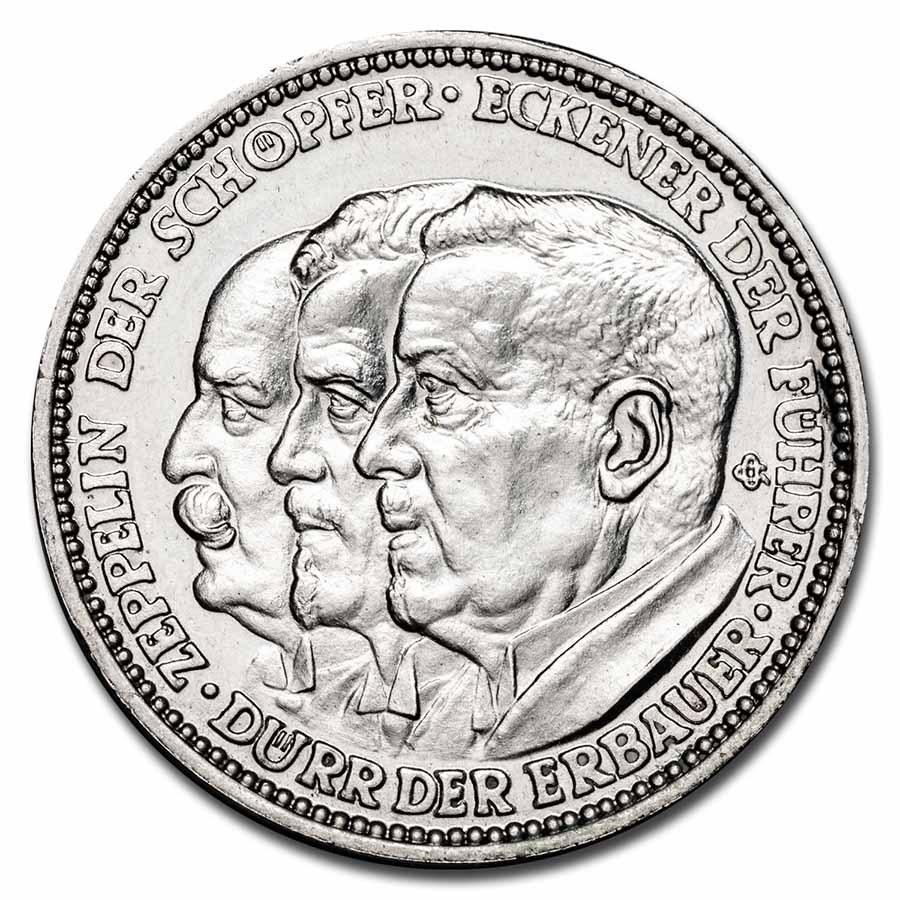 1929 Germany Silver Medal Weimar Republic BU